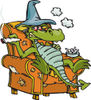 Dragon Sitting In A Chair And Smoking Dope