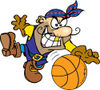 Pirate Guy Playing Basketball