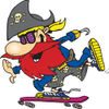 Pirate Guy Skateboarding - Version 1