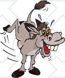 ... Royalty Free Vector Illustration ~ CartoonsOf ... Jackass Mule Clipart