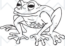 Black and white cartoon frogs - photo#23