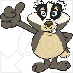 clipart of a happy badger giving a thumb up royalty free happy clip art free images happy clipart face