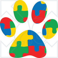 Clipart Of A Colorful Jigsaw Puzzle Aspergers Autism