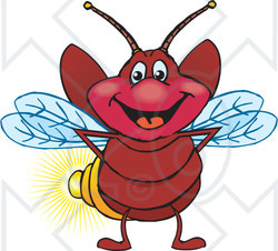 Clipart of a Happy Firefly - Royalty Free Vector Illustration