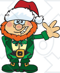 clipart of a friendly waving leprechaun wearing a Free Vector Graphics royalty-free vector clipart illustration