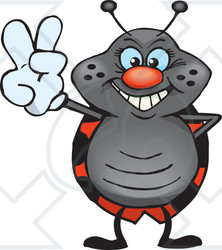 Clipart Illustration of a Peaceful Beetle Smiling And Gesturing The ...