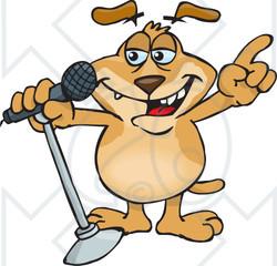 royaltyfree rf clipart illustration of a sparkey dog