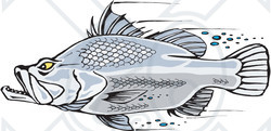 Royalty free rf clipart illustration of a fast for What is the fastest swimming fish