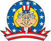 Uncle Sam Logo With Stars And Stripes