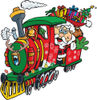 Santa Waving And Driving A Train Sleigh