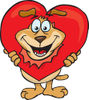 Sparkey Dog Breaking His Head Through A Heart